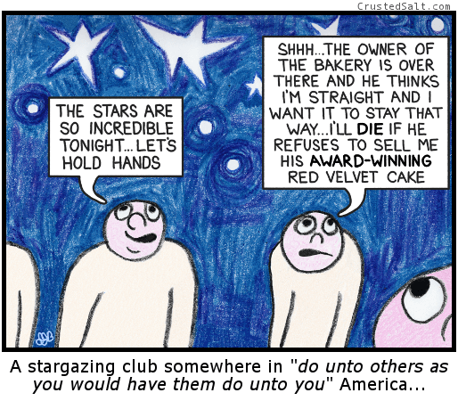 a comic with people staring up at the sky in crayon