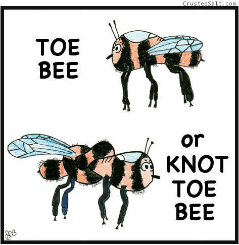 a comic that's a parody of Hamlet with 2 bees