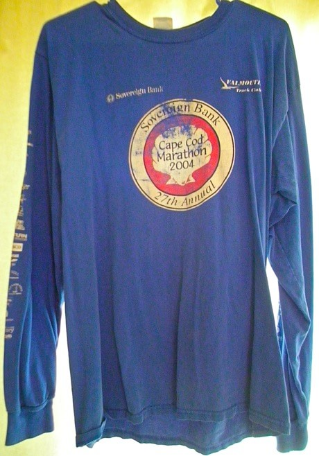 2004 Cape Cod Marathon finisher t-shirt